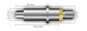 Maße des Messerhalters